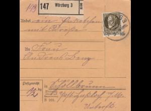 Paketkarte Würzburg nach Schöllbrunn