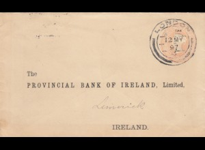 1897: letter from London to Ireland