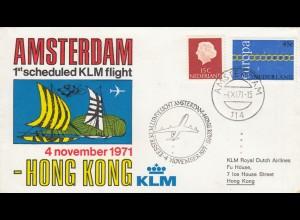 1971: First KLM flight Amsterdam - Hong Kong