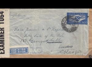 1942: Portugal Lumiar-Lisboa to England, air mail, censor