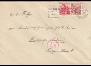 1943: Basel to LVA Karlsruhe, censor