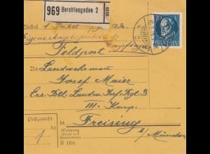 Bayern: Paketkarte Faldpost Berchtesgaden nach Freising