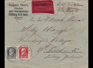 Eilboten Brief Plößberg nach Dresden