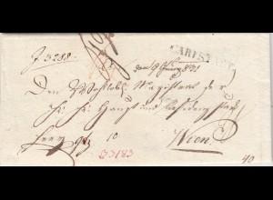 1831: Das königlich bayrische Landgericht Karlstadt nach Wien, viel Text