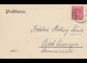1921: Postkarte Bayrischer Landtag München nach Bad Kissingen, Alfons Probst