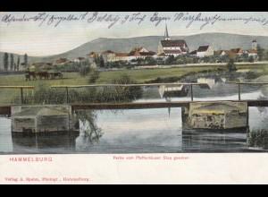 Ansichtskarte Lager Hammelburg 1915 nach Schweinfurt
