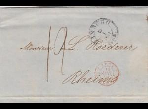 Brief 1854 von Hamburg nach Reins mit Text