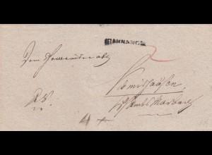 Brief aus Backnang nach Harzburg