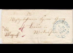 Brief 1848 aus Ludwigsburg