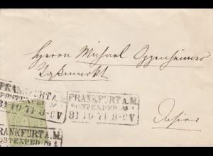 Brief 1871 aus Frankfurt