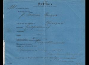2x Rücksein Langenburg 1912/1901