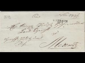 Brief aus Birnbaum/ Międzychód nach Meseritz 1832 mit Text