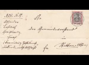Brief 1902 aus Ostheim nach Hatten