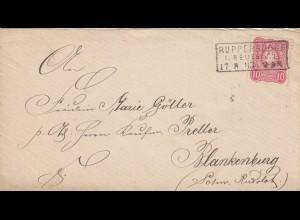 Brief 1883 von Ruppersdorf nach Blankenburg