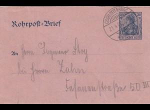 Rohrpostbrief 1905 innerhalb von Berlin
