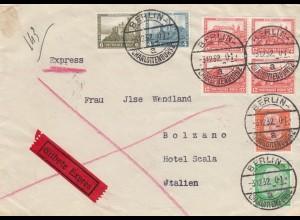 Eilbote Berlin nach Bolzano/Italien 1932