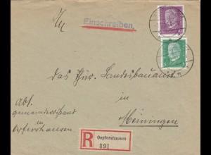 Einschreiben Oepfershausen 1930 nach Meiningen