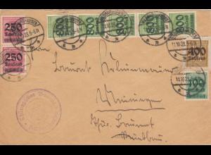 Evangelisches Bauamt Hilburghausen nach Meiningen 1923