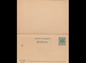 Ganzsache Deutsche Reichspost mit Antwortkarte, ungebraucht