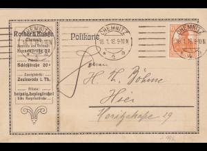 Postkarte 1918 aus Chemnitz