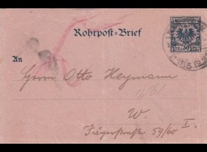 3x Rohrpost-Brief Berlin 1899/1900 Berlin