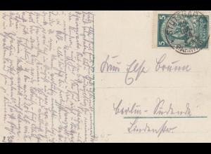Ansichtskarte Ludwigsburg 1924 nach Berlin