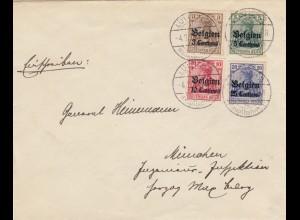 1915, Brief aus Lüttich nach München an General Heinemann
