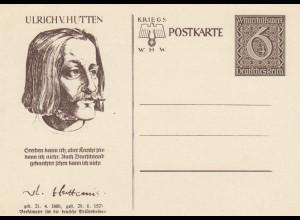 6x verschiedene Ganzsachen, WHW Postkarte, komplett