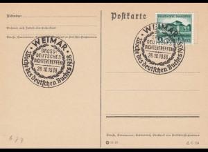 3 Postkarten: Weimar Dichtertreffen und Saarbrücken