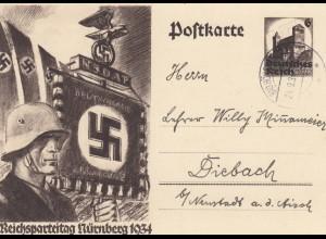 2 Ganzsachen Nürnberg 1934 und Berlin 1938, Handwerkerausstellung