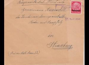 Posten Briefe Lothringen/Elsass, Muster ohne Wert, kleine Orte