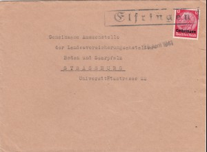 Lothringen 1941: Elfring nach Strassburg