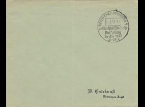 1937: Sonderstempel Berlin: Milchwirtschaft Ausstellung