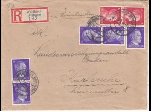 Eiinschreiben Waldkirch 1943 nach Karlsruhe