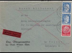 Eilbote Eisfeld nach Weimar 1942