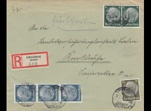 Einschreiben Offenburg nach Karlsruhe 1943