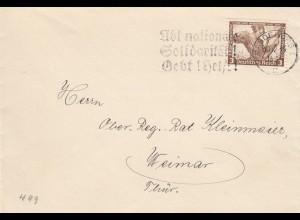 Brief aus Magdeburg 1934 nach Weimar