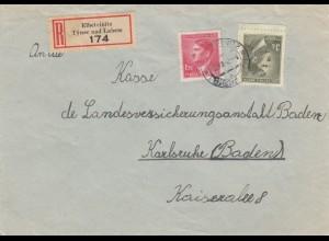 B&M: 2x Einscheiben Elbeteinitz, Turnau nach Karlsruhe 1942