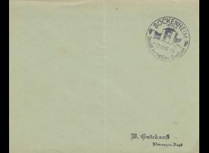 Sonderstempel 1937, Bockenheim/Pflaz Weinfest dt. Weinstraße