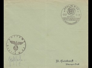 Sonderstempel 1937, Berlin, KDF Sammlergemeinschaft, Postsache