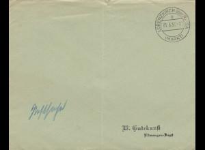 Sonderstempel 1937, Lorenzkirch über Riesa, Postsache