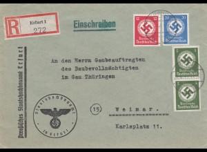 Einschreiben Erfurt nach Weimar