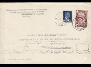 1937: Besiktas/Istanbul an Aussenministerium Prag, DPIUM, Büro,