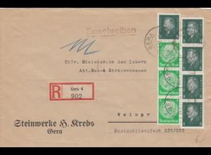 Einschreiben Gera 1931 nach Gera