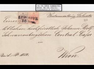 1856 Lobositz nach Wien mit Briefinhalt