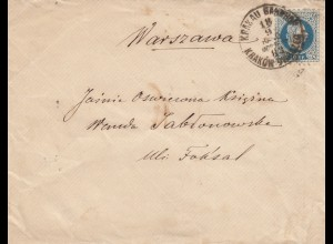 Letter 1883 from Krakow to Warszwawa