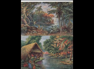 3 Karten vom Kolonialkriegerdank, Askari (DOA), Neumeckenburg (Südsee), Kamerun