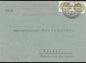 1934: Gotha, Propagandaspruch nach Weimar - Kriegsschuld