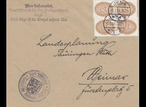 1934: Jena, Propagandaspruch nach Weimar - Kriegsschuld