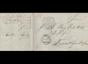 Bamberg 1836, Nachnahme nach Frankfurt